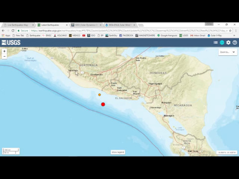 PLANET X NEWS - 6 2 MAG HITS OFF SHORE IN CENTRAL AMERICA