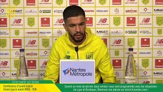 VIDEO: LIVE I Conférence d'avant-match : ASSE-FCN