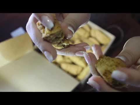 γλυκα παξιμαδια με γλυκανισο ASMR
