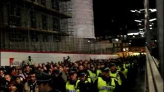 Arsenal v Montpellier 2012 | Pre-match away fans entry