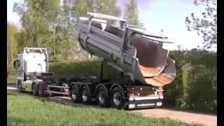 Dump Truck 2 Trailers