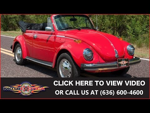 1978 Volkswagen Super Beetle Convertible || For Sale