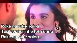 roke na ruke naina karaoke with lyrics
