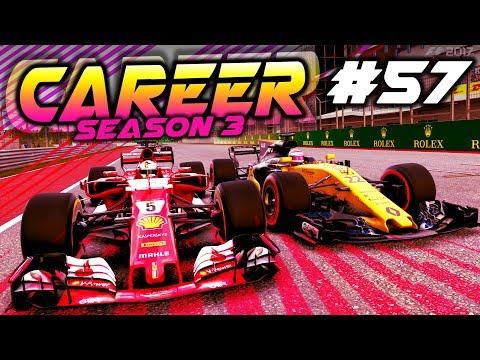 F1 2017 Career Mode Part 57: BATTLING VETTEL FOR CRUCIAL POINTS