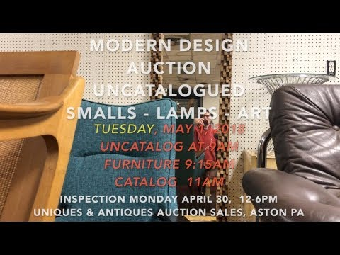 May 1, 2018 - UnCataloged Smalls, Lamps and Art -  Midcentury Modern Design Auction -