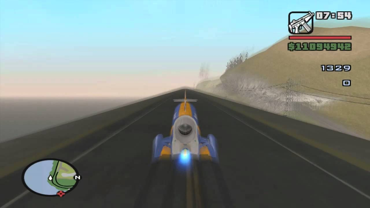 Land Speed Record >> Bloodhound SSC Sonic Boom in GTA San Andreas - YouTube