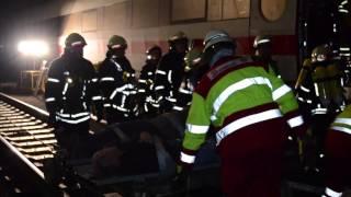 27.10.2013: ICE Brand führt zu Großeinsatz - Vaihingen an der Enz