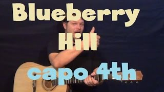 Blueberry Hill (Fats Domino) Easy Strum Guitar Lesson How to Play Tutorial Capo 4th