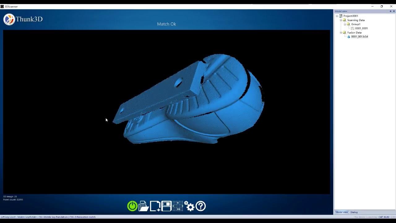 Thunk3D Fisher pour 0 04mm de précision