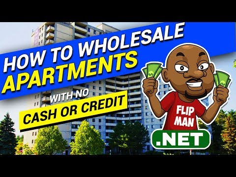 How To Wholesale Apartment Buildings / Multifamily With No Cash or Credit |  #flippingapartments