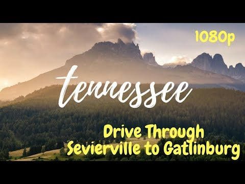 Sevierville to Gatlinburg: Drive Through Pigeon Forge Tennessee in 1080p (Beautiful)