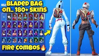 "NOUVEAU ""BLADED BAG"" BACK BLING Showcased With 170'SKINS! Fortnite BR (BEST BLADED BAG COMBOS)"