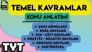 TEMEL KAVRAMLAR  KONU ANLATIMI  +PDF