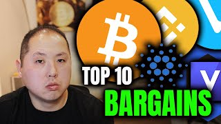 TOP 10 BARGAIN ALTĊOIN BUYS!!! BITCOIN TOO!!!