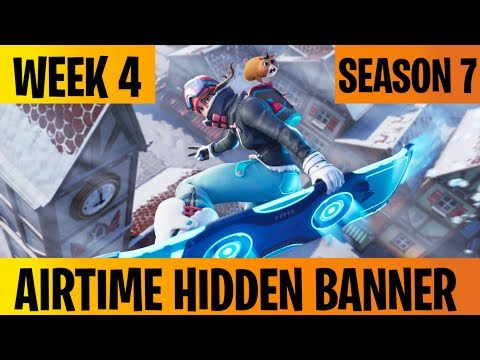 Airtime Hidden Banner Location - Fortnite Season 7 Week 4
