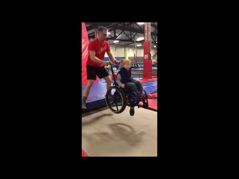 Shannon The Dude - Child With Disability Jumps On Trampoline