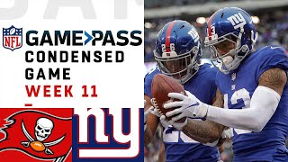 Buccaneers vs. Giants | Week 11 NFL Game Pass Condensed Game of the Week