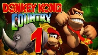 Donkey Kong Country - Let's Play Donkey Kong Country Part 1: Im tiefsten Kongo