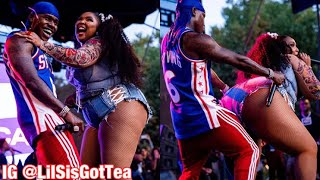 LIZZO TWERKS ON DABABY WHILE PERFORMING TRUTH HURTS REMIX DURING MADE IN AMERICA FESTIVAL