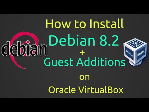 How to Install Debian 8.2 + VBox Guest Additions on VirtualBox [Subtitle][HD]
