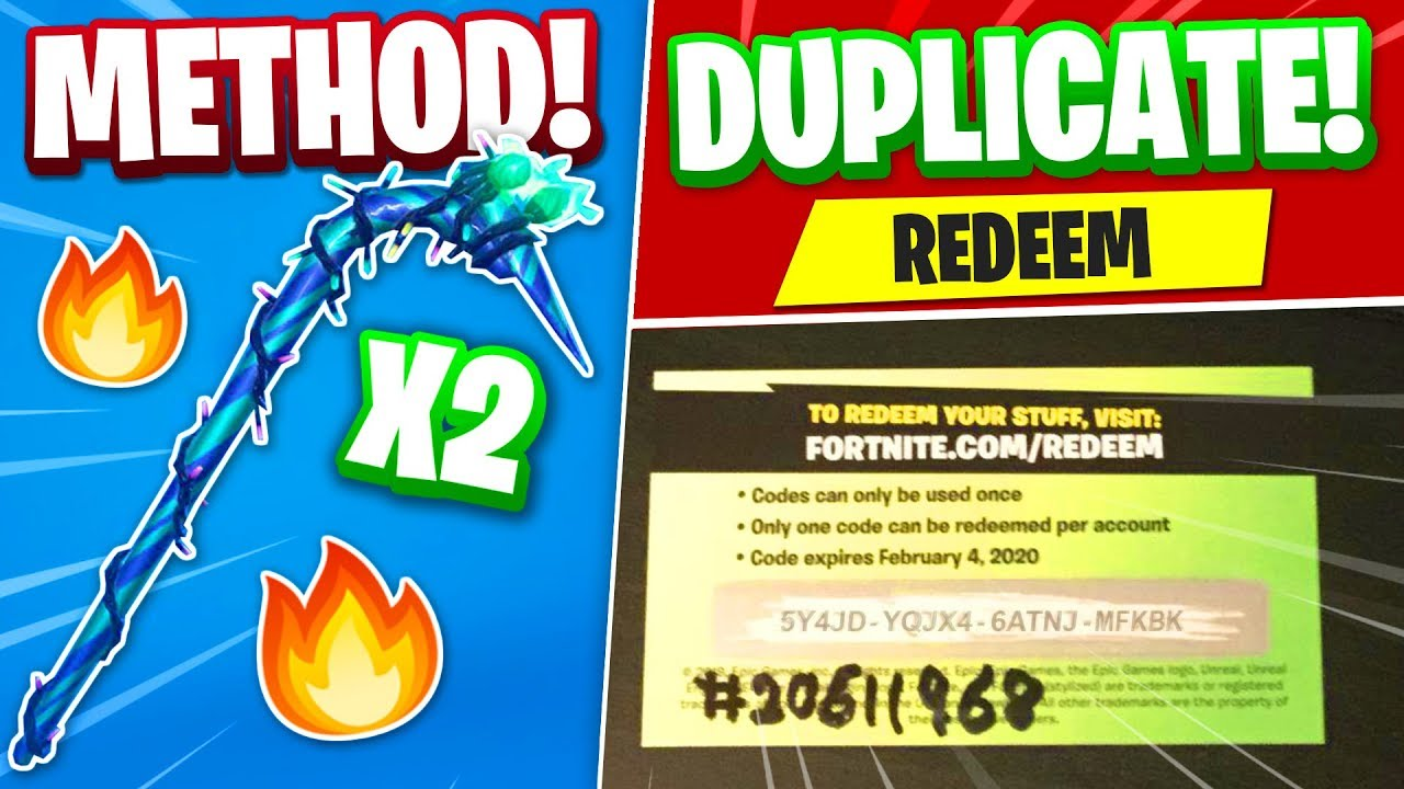 How to DUPLICATE Minty pickaxes in Fortnite... (1 code 2 ...