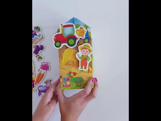 Vladi Toys VT1312-01 Игра с липучками Живу на ферме