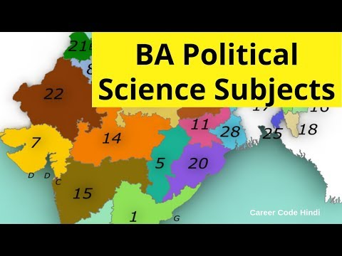 BA in Political Science ke subjects jaanlo