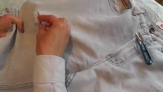 потертые джинсы как сделать видео