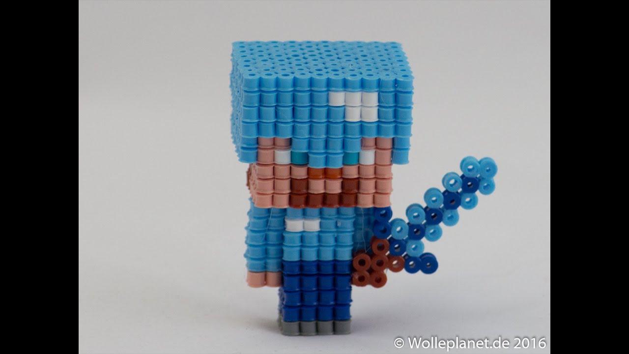 Perler Bead 3d Minecraft Steve Mit Rüstung