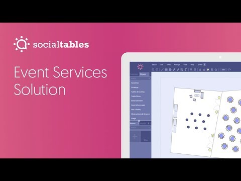 Social Tables Event Services Solution: Operate faster with seamless communication.