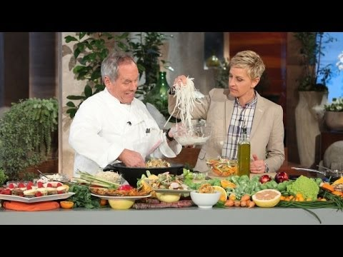 Wolfgang Puck Cooks Eggplant with Ellen