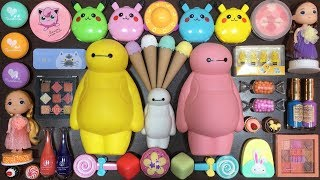 Special Series Baymax and Pikachu Slime | Mixing Random Thin...