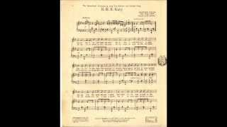 "World War I Song, ""K-K-K Katy"""