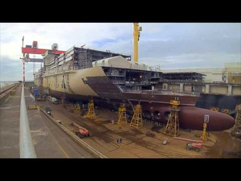 MSC Meraviglia Construction Time-lapse Video