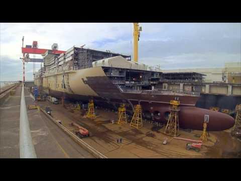 MSC Meraviglia Construction Time-lapse Video