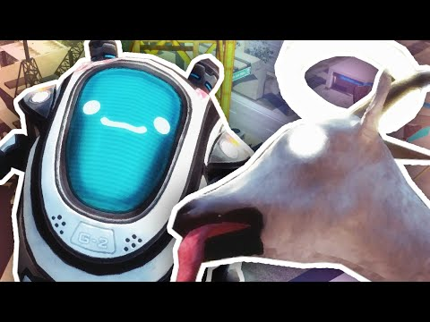 Thumbnail: LICK THE ROBOT!! | Goat Simulator