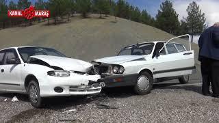 Kahramanmaraş'ta otomobiller kafa kafaya çarpıştı: 2 yaralı