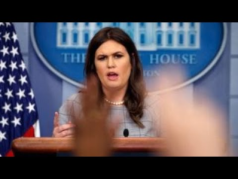 After Trump's vulgar comments, Sarah Sanders in for a 'brutal' press briefing