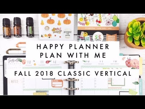 Plan With Me Fall 2018 // Classic Happy Planner Seasonal Squad Goals MAMBI Happy Planner