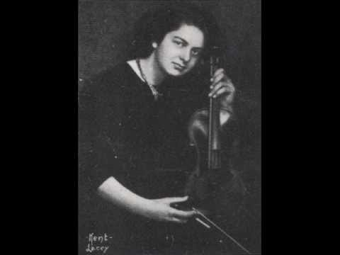Brahms: Violin Sonata in A major mvt 1 - Isolde Menges
