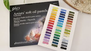 Mungyo Oil Pastel 48 set Unboxing & Swatches | Swatching Mungyo Gallery Soft Oil Pastels #oilpastel screenshot 3