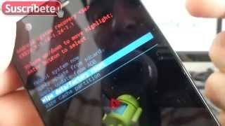 Motorola Moto G Como se hace un Hard reset con el movil apagado