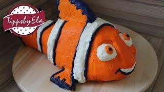 Nemo Torte  3D Sahne Torte Findet Nemo Anleitung Deutsch Motiv Torte aus Sahne