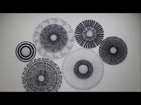 Как закрепить веер на стене видео