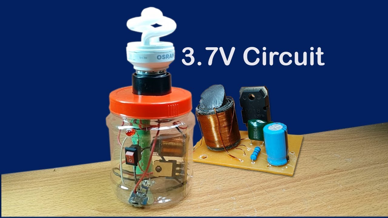 Diagram How To Make Easy 3 7v Fluorescent Lamp Circuit In Cans At Home