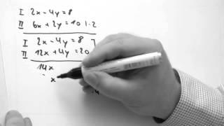 Additionsverfahren lineare Gleichungssysteme mit 2 Unbekannten  und Probe einfach gemacht