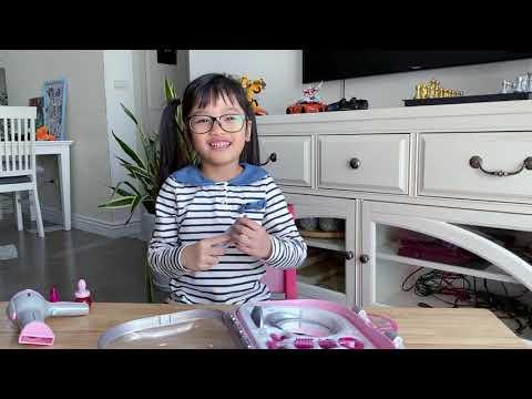 Review đồ chơi làm tóc cho bé gái - Braun pretended hairdryer and accessories