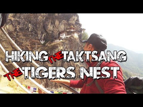 Hiking the  Paro Taktsang (The Tigers Nest) Paro, Bhutan