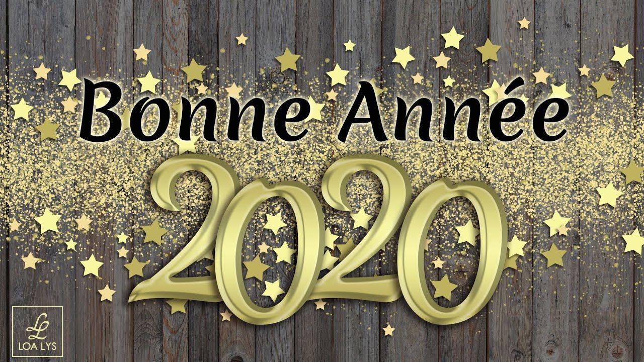 carte virtuelle voeux 2020 Bonne année 2020   Carte virtuelle de vœux 2020   YouTube