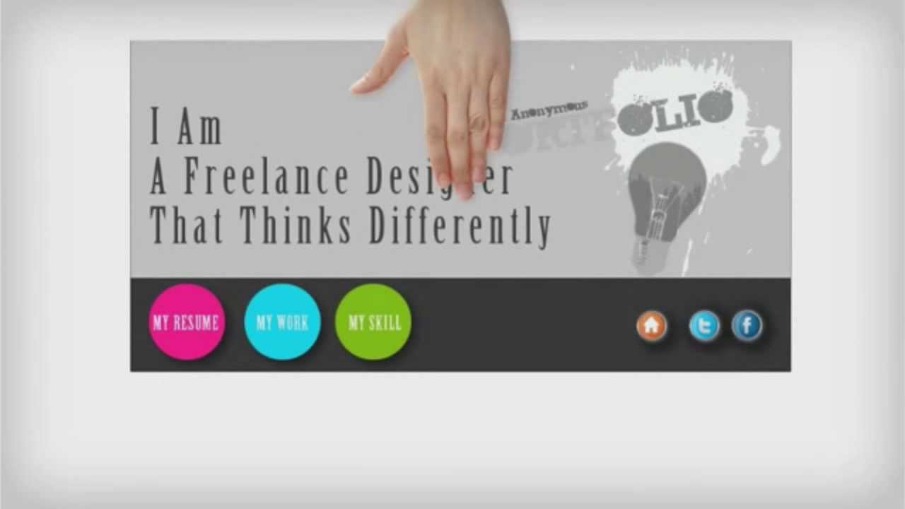 Freelancer Designer | Self Promotion Freelance Designer Youtube